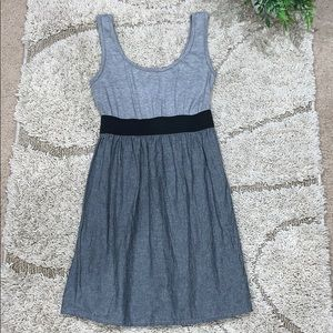 Grey Belted Dress